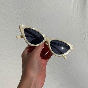 OAK + FORT Accessories - Oak & Fort cream cat eye sunglasses